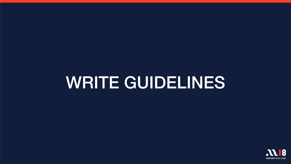 WRITE GUIDELINES
