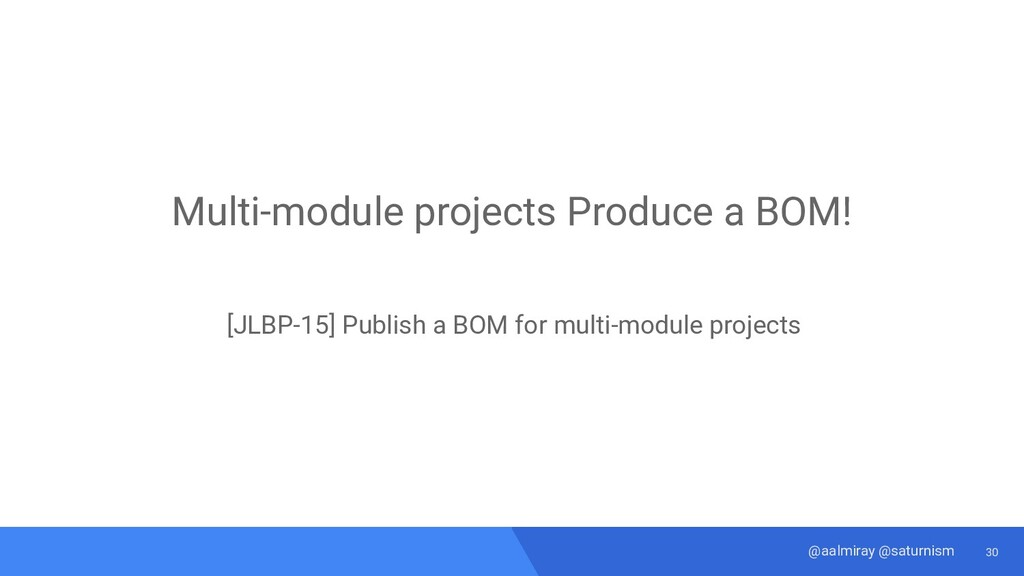 30 @aalmiray @saturnism Multi-module projects P...