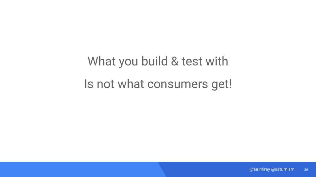 36 @aalmiray @saturnism What you build & test w...