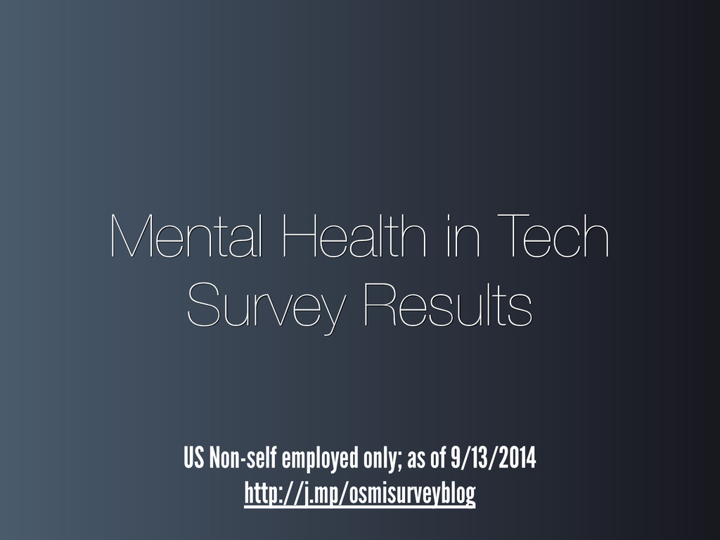 Mental Health in Tech Survey Results US Non-se...