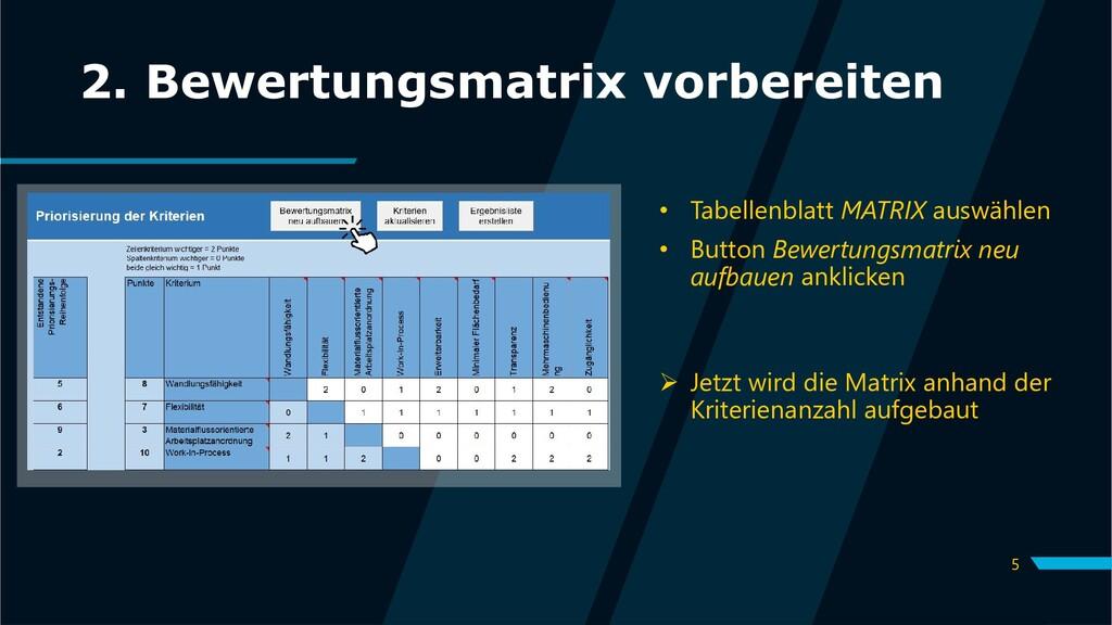 5 2. Bewertungsmatrix vorbereiten • Tabellenbla...