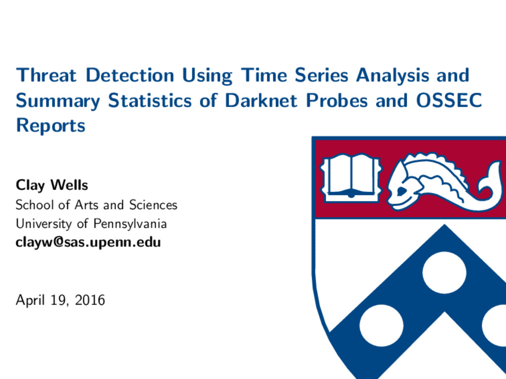 Threat Detection Using Time Series Analysis and...