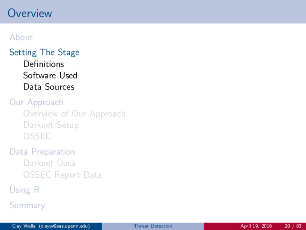 Overview About Setting The Stage Definitions Sof...