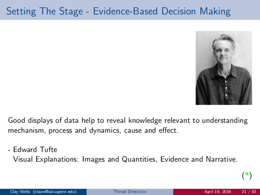 Setting The Stage - Evidence-Based Decision Mak...