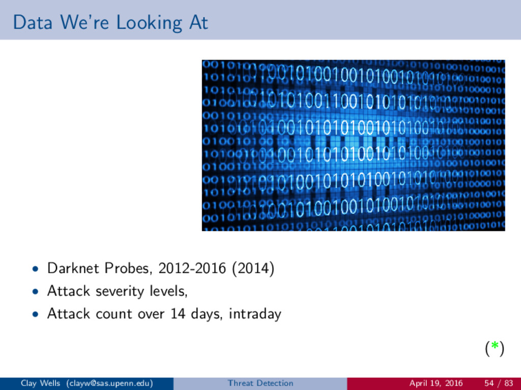 Data We're Looking At • Darknet Probes, 2012-20...