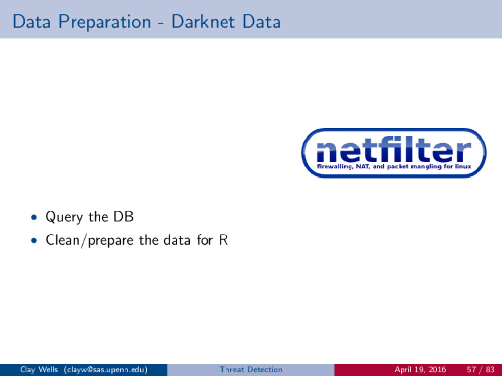 Data Preparation - Darknet Data • Query the DB ...