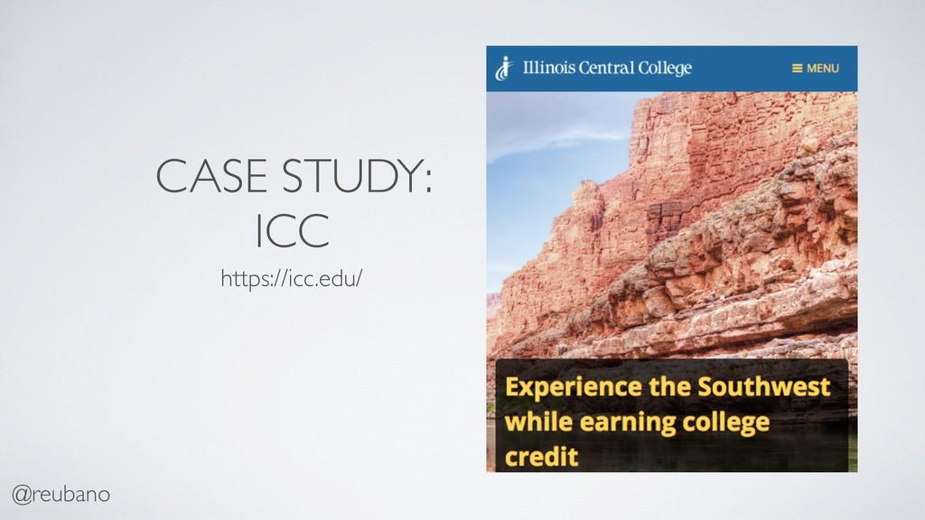 @reubano CASE STUDY: ICC https://icc.edu/