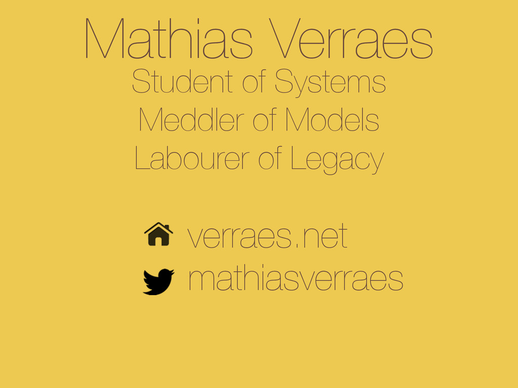 Mathias Verraes Student of Systems Meddler of ...