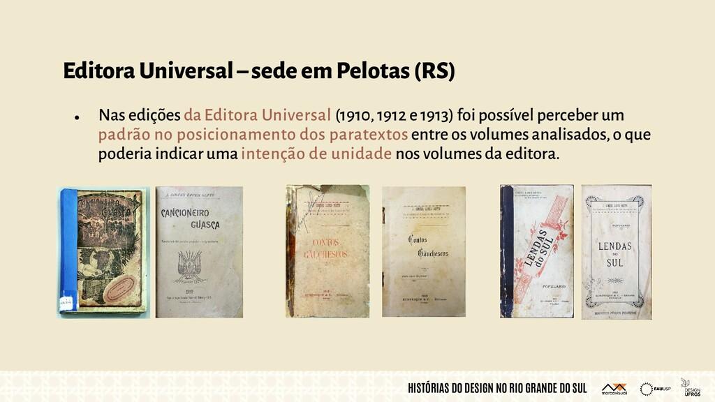 HISTÓRIAS DO DESIGN NO RIO GRANDE DO SUL Editor...