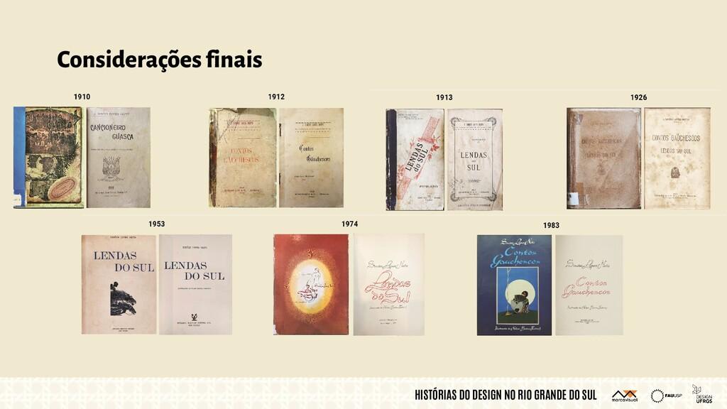 HISTÓRIAS DO DESIGN NO RIO GRANDE DO SUL Consid...