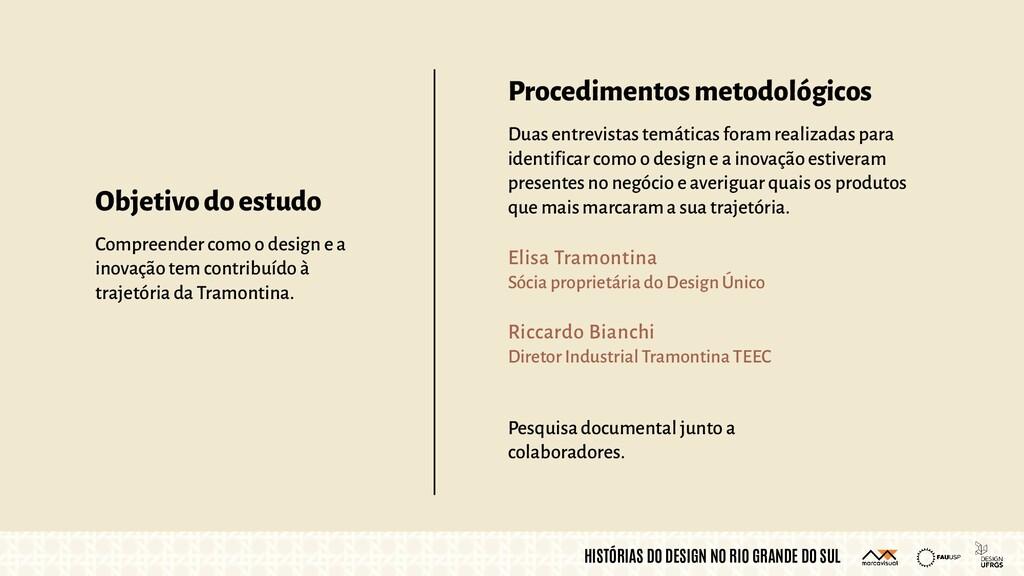 HISTÓRIAS DO DESIGN NO RIO GRANDE DO SUL Proced...
