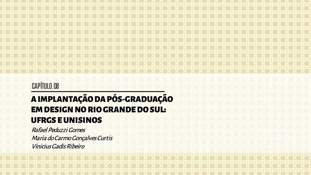 CAPÍTULO.08 A IMPLANTAÇÃO DA PÓS-GRADUAÇÃO EM D...