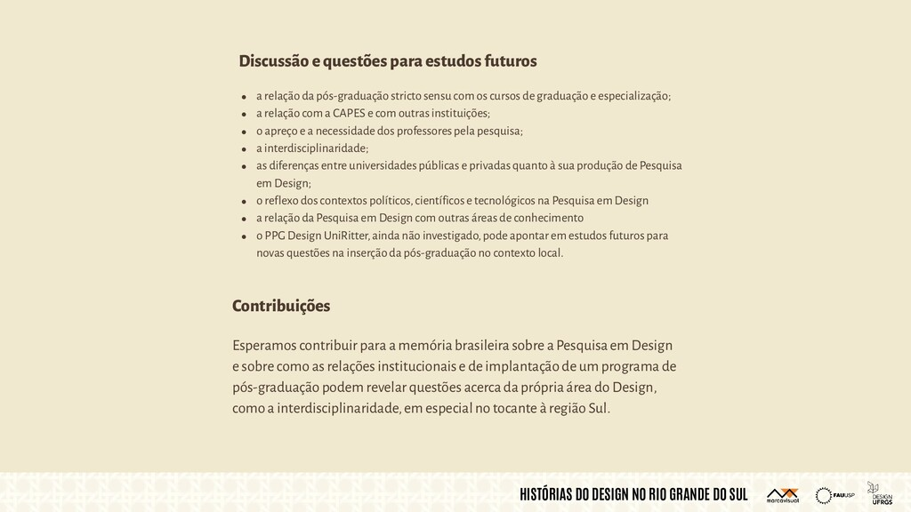 HISTÓRIAS DO DESIGN NO RIO GRANDE DO SUL Espera...