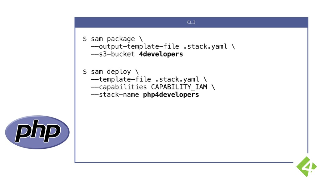 $ sam package \ --output-template-file .stack....