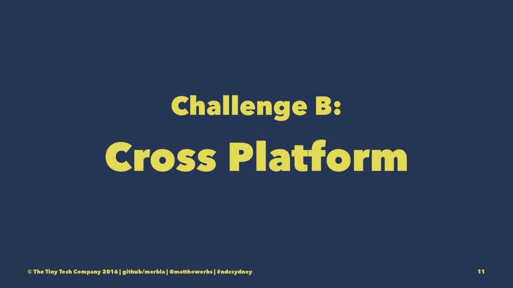 Challenge B: Cross Platform © The Tiny Tech Com...