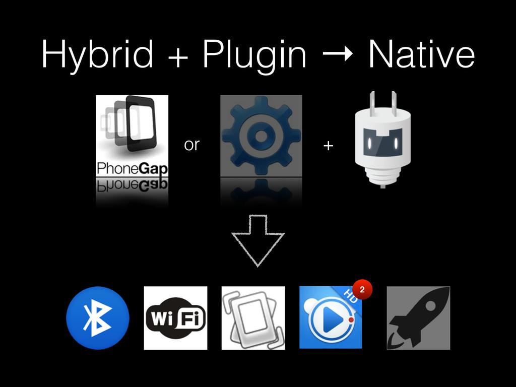 Hybrid + Plugin → Native + 2 or
