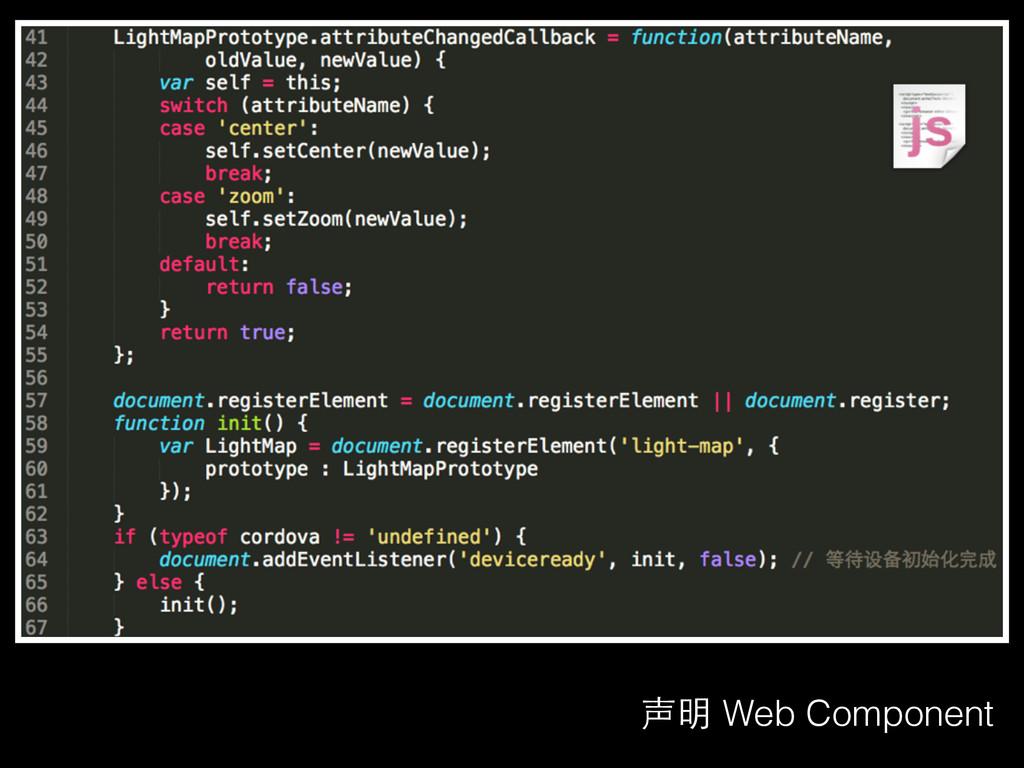 声明 Web Component