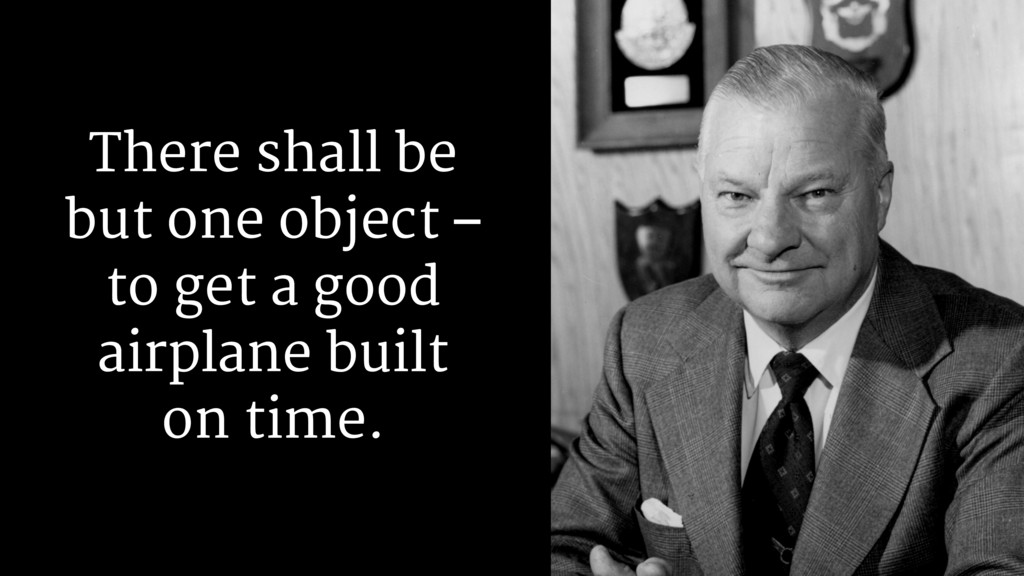 There shall be but one object – to get a good a...