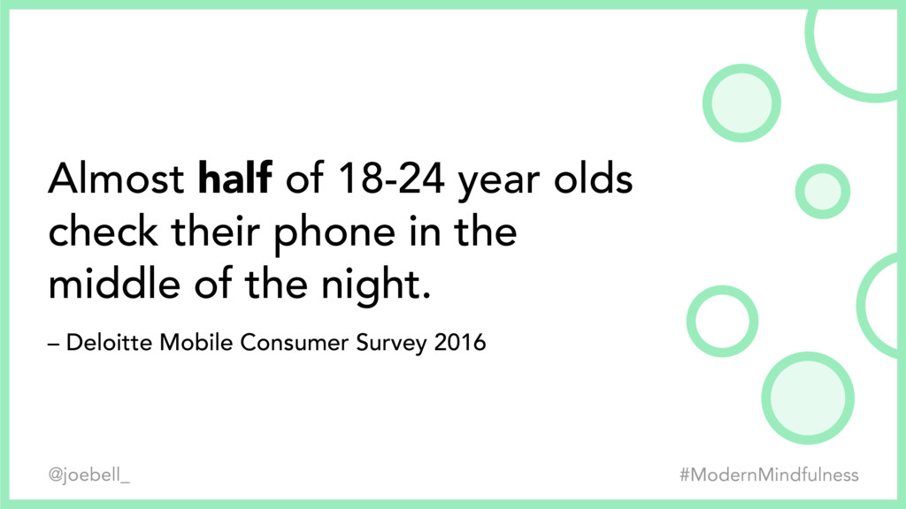 Almost half of 18-24 year olds check their phon...