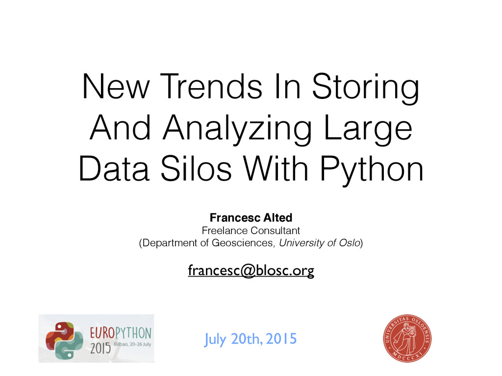 New Trends In Storing And Analyzing Large Data ...