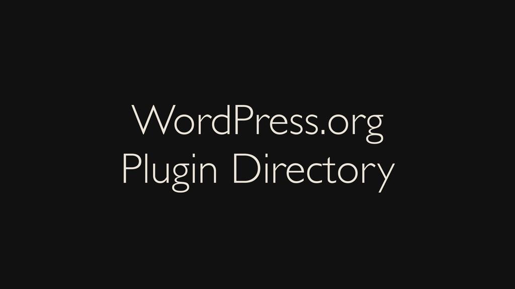 WordPress.org Plugin Directory