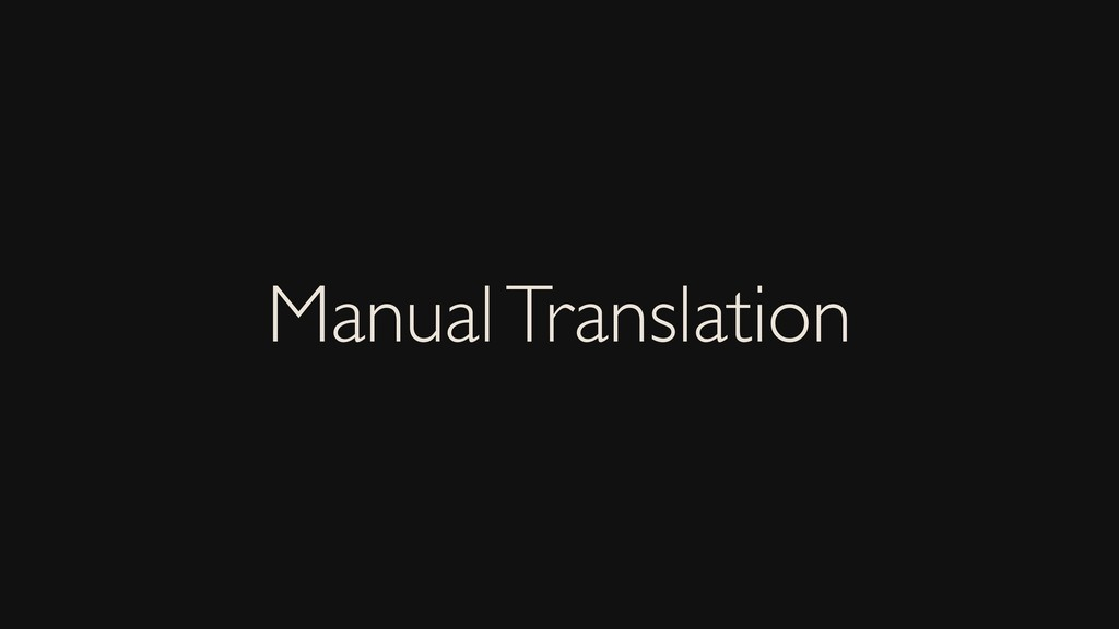Manual Translation