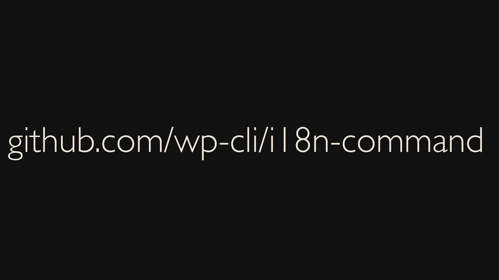 github.com/wp-cli/i18n-command
