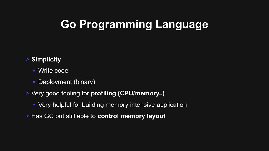 Go Programming Language > Simplicity • Write co...