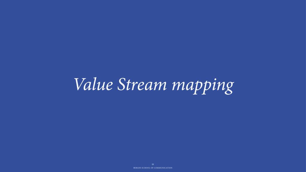 BERGHS SCHOOL OF COMMUNICATION Value Stream map...