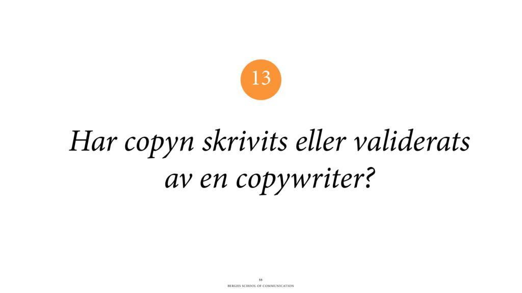 BERGHS SCHOOL OF COMMUNICATION Har copyn skrivi...