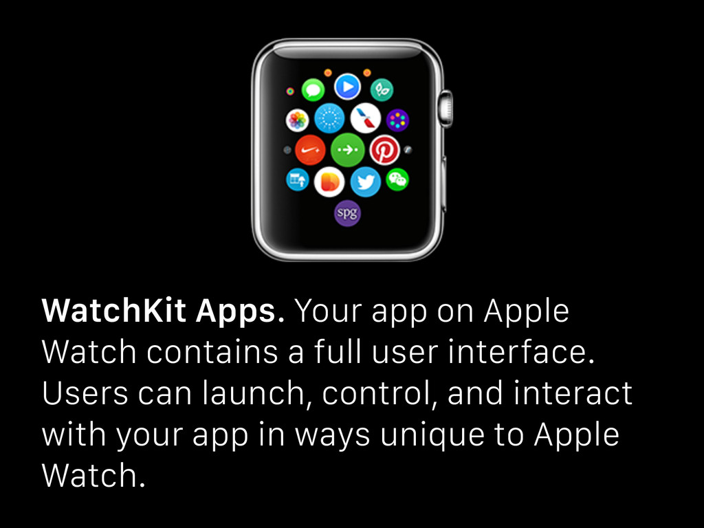 WatchKit Apps. Your app on Apple Watch contains...