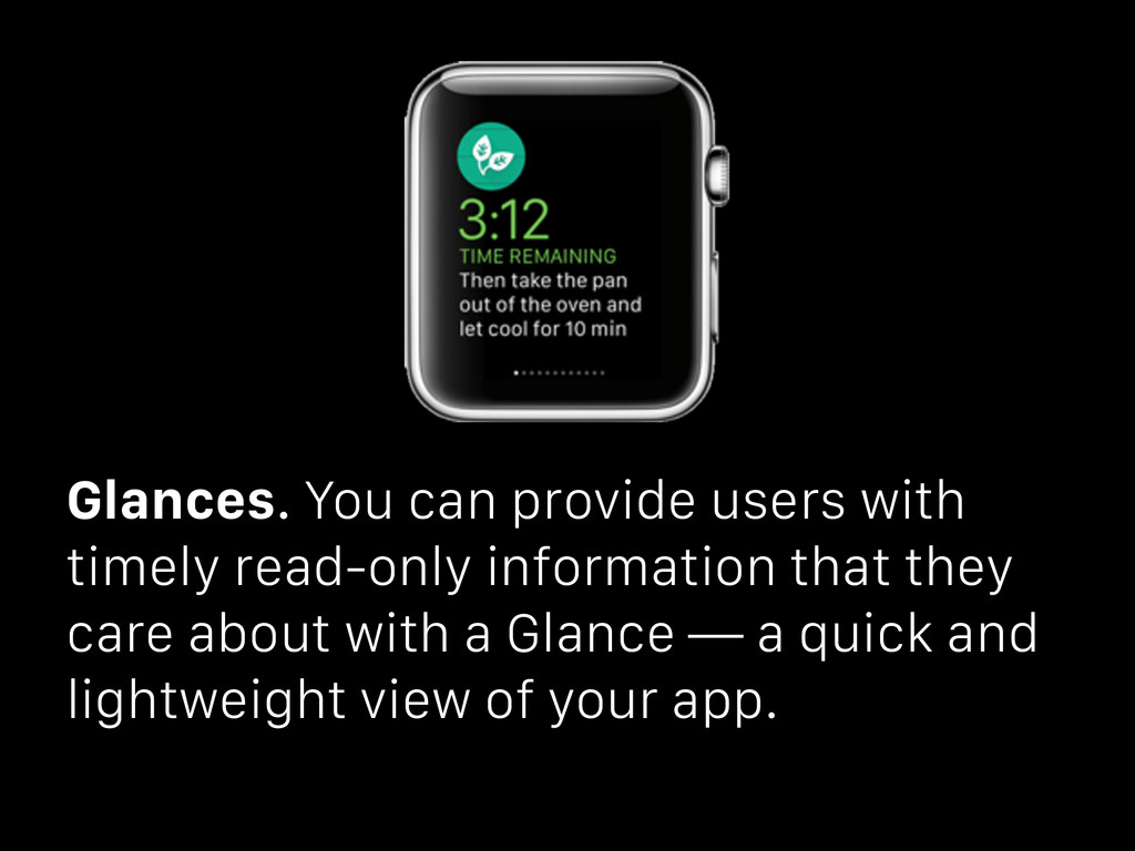 Glances. You can provide users with timely read...