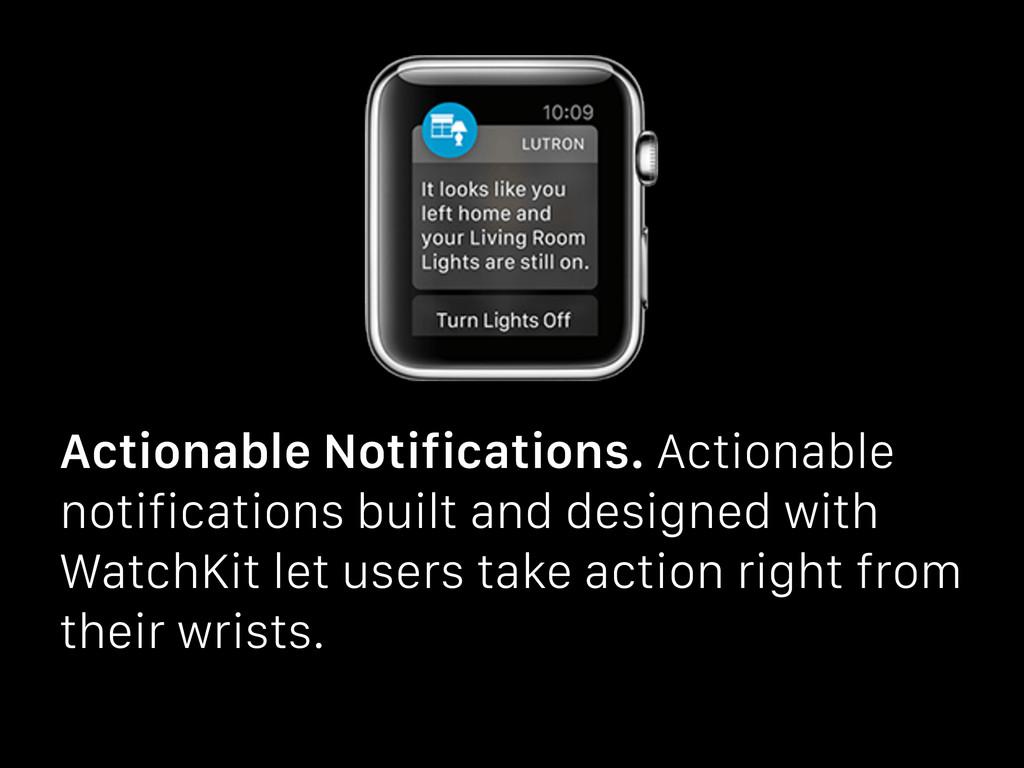 Actionable Notifications. Actionable notificati...