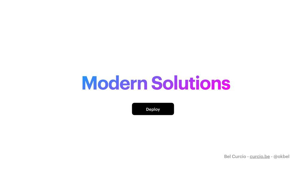 Modern Solutions Deploy Bel Curcio - curcio.be ...