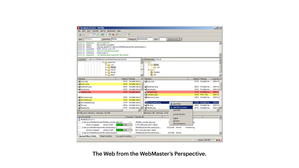 The Web from the WebMaster's Perspective.
