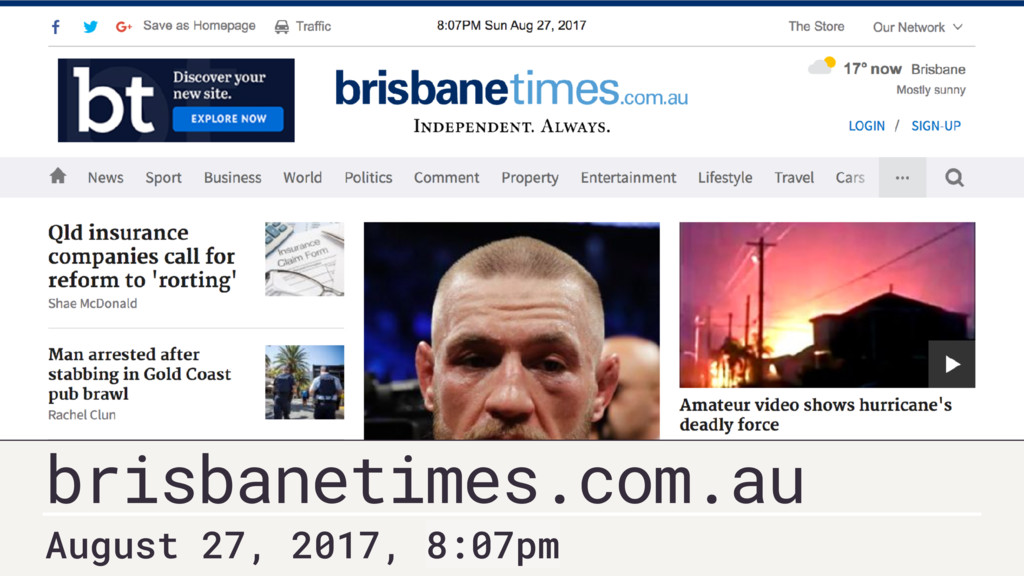 brisbanetimes.com.au August 27, 2017, 8:07pm
