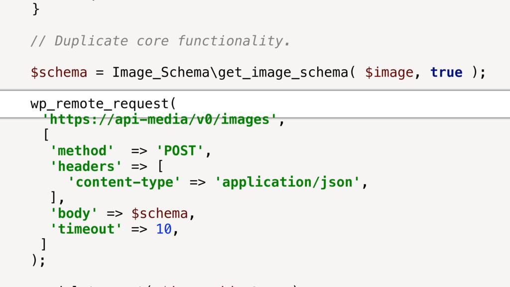 } // Duplicate core functionality. $schema = Im...