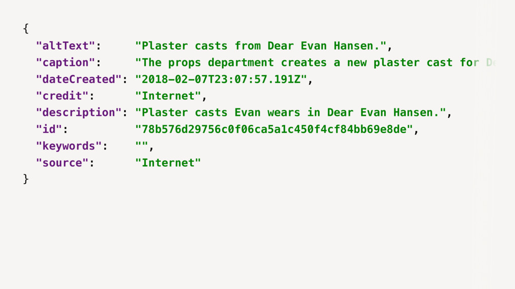"{ ""altText"": ""Plaster casts from Dear Evan Hans..."