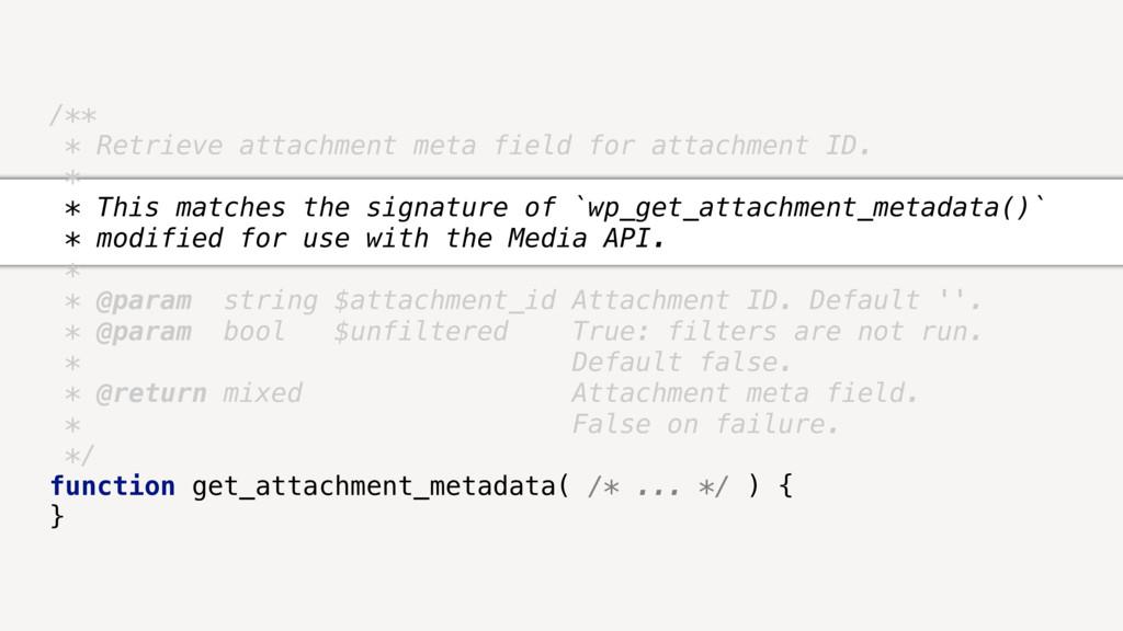 /** * Retrieve attachment meta field for attach...