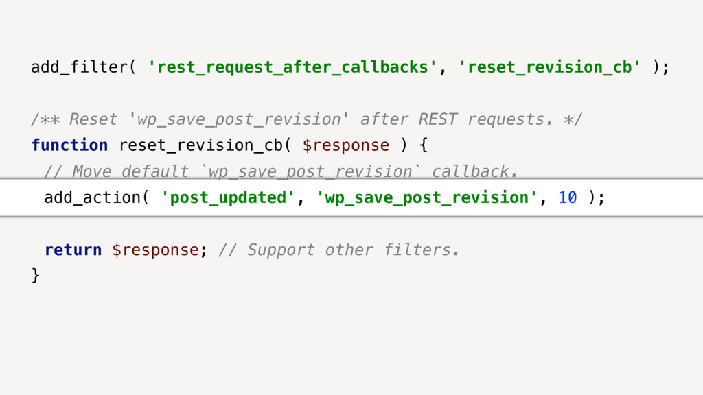 add_filter( 'rest_request_after_callbacks', 're...
