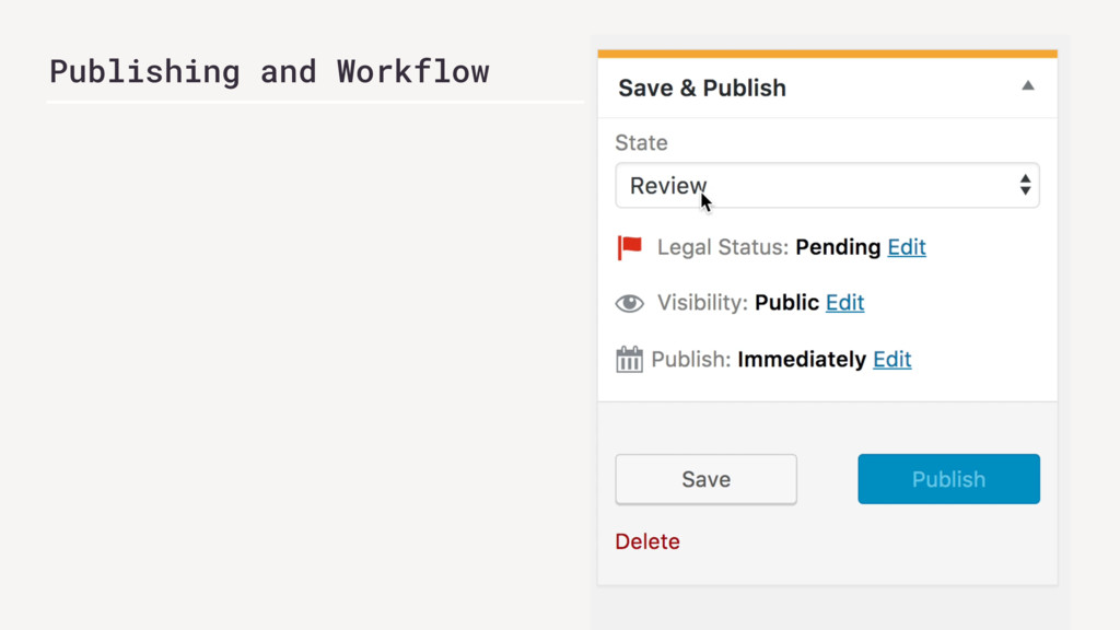 Publishing and Workflow