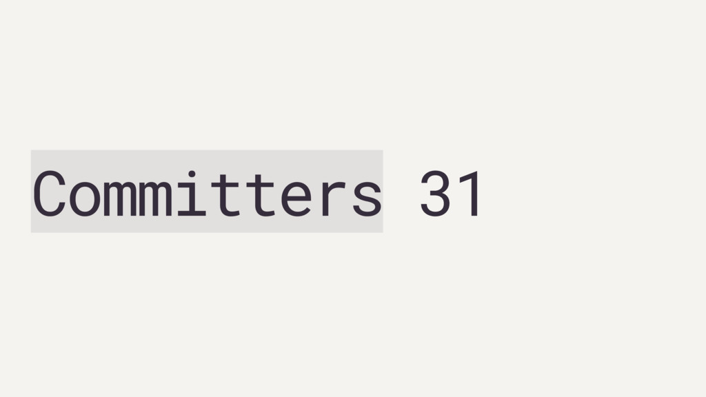 Committers 31