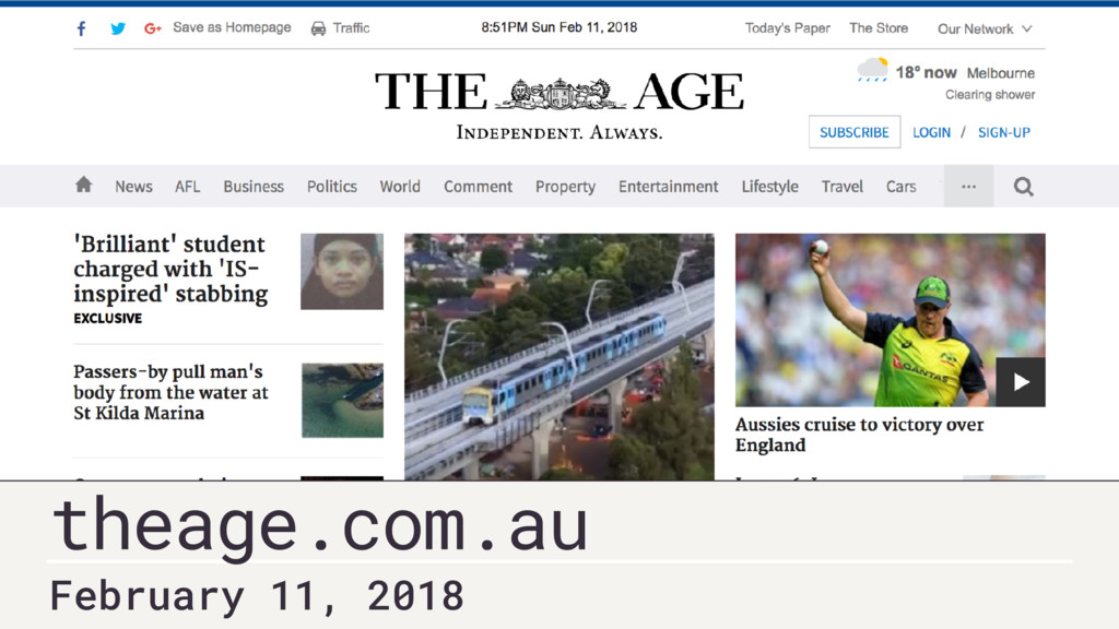 February 11, 2018 theage.com.au