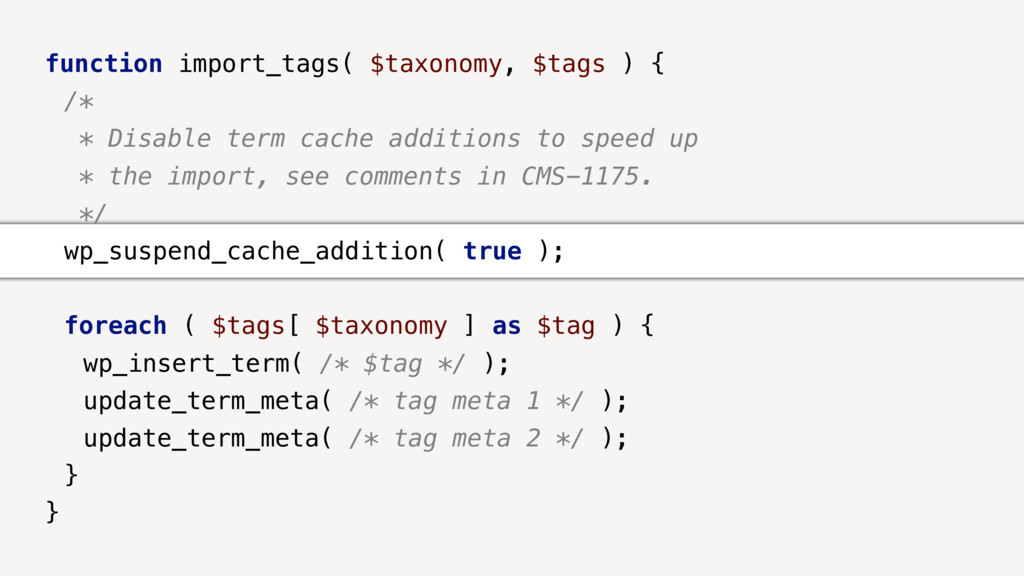function import_tags( $taxonomy, $tags ) { /* *...