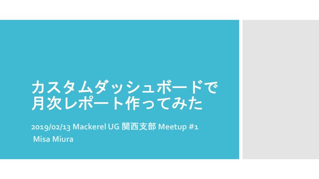 2019/02/13 Mackerel UG...