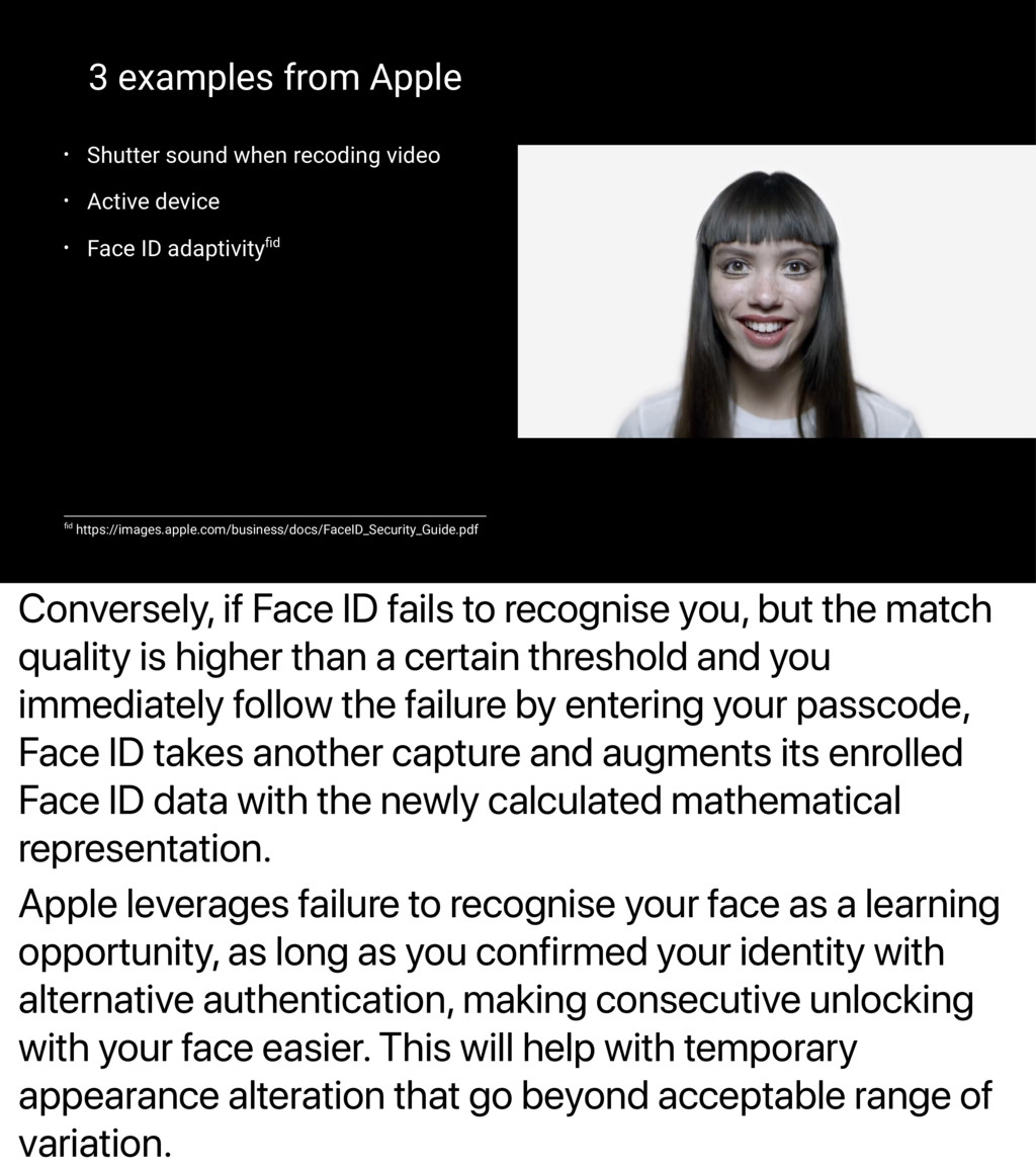 Conversely, if Face ID fails to recognise you, ...