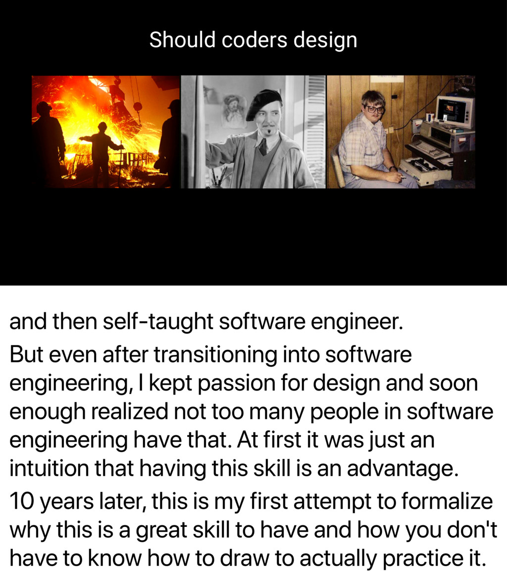 and then self-taught software engineer. But eve...
