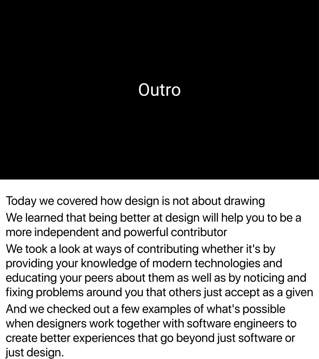 Today we covered how design is not about drawin...