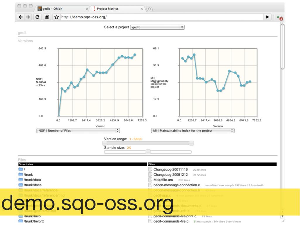 demo.sqo-oss.org