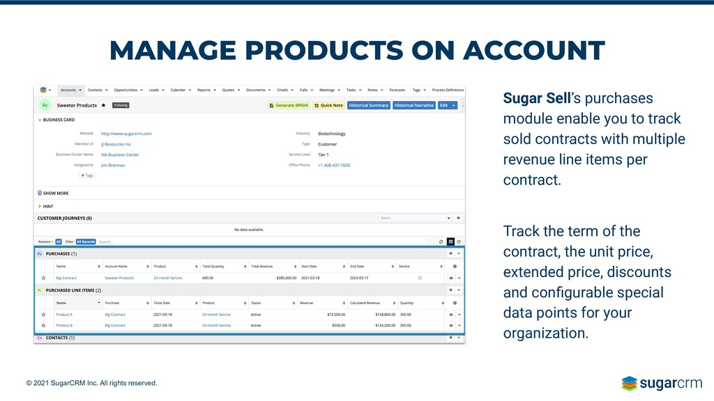 © 2021 SugarCRM Inc. All rights reserved. MANAG...